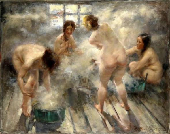 прятся в бане